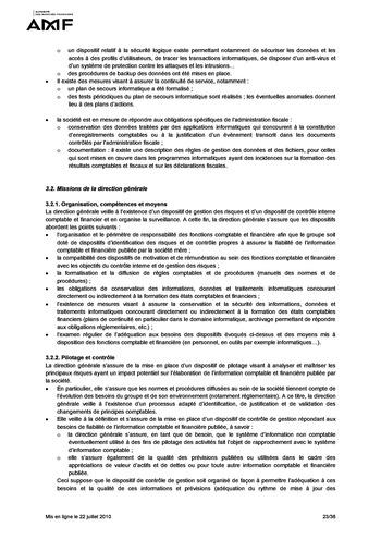 Cadre de référence des dispositifs de gestion des risques et de contrôle interne page 23