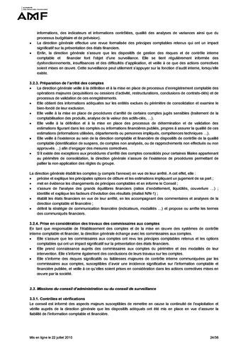 Cadre de référence des dispositifs de gestion des risques et de contrôle interne page 24