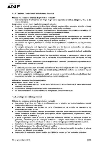 Cadre de référence des dispositifs de gestion des risques et de contrôle interne page 29