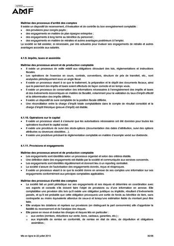 Cadre de référence des dispositifs de gestion des risques et de contrôle interne page 30