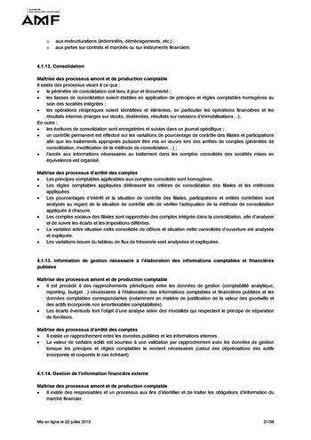 Cadre de référence des dispositifs de gestion des risques et de contrôle interne page 31