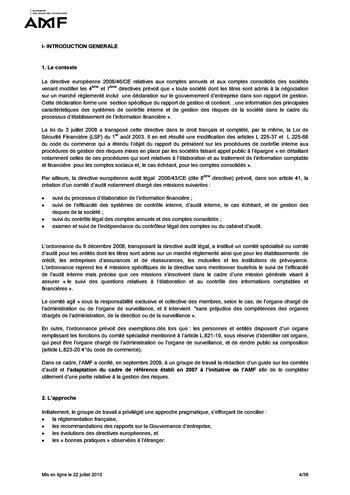 Cadre de référence des dispositifs de gestion des risques et de contrôle interne page 4