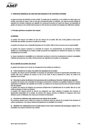 Cadre de référence des dispositifs de gestion des risques et de contrôle interne page 6