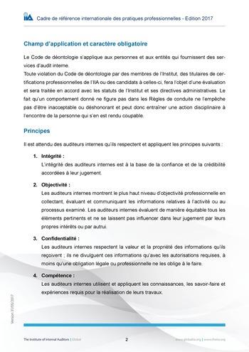 Code de déontologie page 2