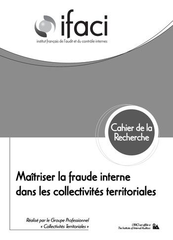 Maîtriser la fraude interne dans les collectivités territoriales page 1