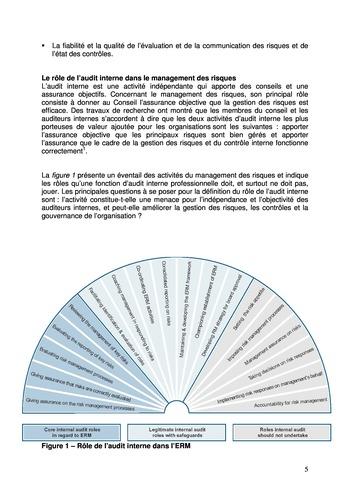 Prise de position - Le rôle de l'audit interne dans le management des risques de l'entreprise /IIA page 5
