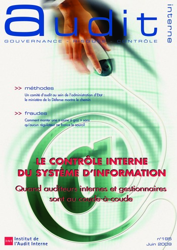 N°195 - juin 2009 Le contrôle interne du système d'information page 1