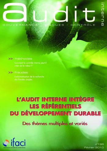 N°198 - fév 2010 L'audit interne intègre les référentiels du développement durable page 1