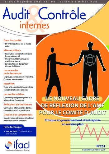 N°201 - sept 2010 Cadre de référence de l'AMF page 1