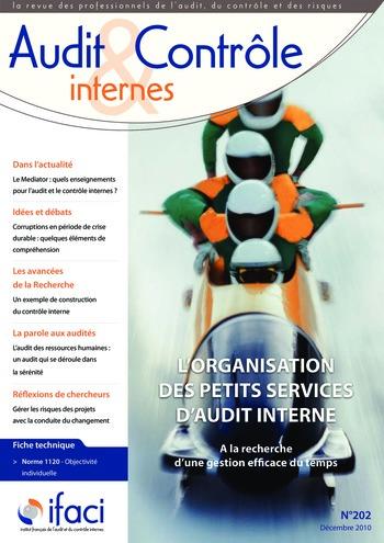 N°202 - déc 2010 L'organisation des petits services d'audit interne page 1