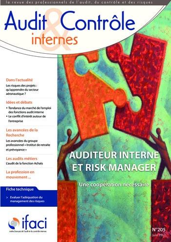 N°205 - juin 2011 Auditeur interne et risk manager page 1