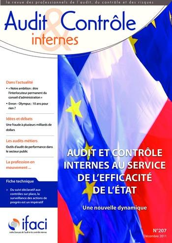 N°207 - déc 2011 Audit et contrôle internes au service de l'efficacité de l'Etat page 1