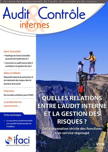 N°208 - fév 2012 Les différents acteurs de la maîtrise des risques : da la cartographie à l'évaluation des processus de la gestion des risques page 1