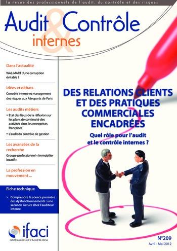 N°209 - avr 2012 Contrôle interne de la relation client et des pratiques commerciales page 1