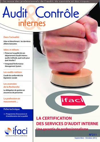N°211 - sept 2012 La certification des services d'audit interne page 1