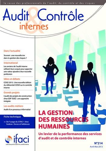 N°214 - avr 2013 La gestion des ressources humaines des services d'audit et de contrôle internes page 1