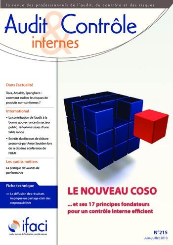 N°215 - juil 2013 Le nouveau COSO : La mise en œuvre d'un dispositif de contrôle interne pertinent page 1