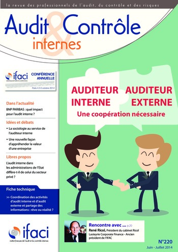 N°220 - juin 2014 Audit interne / audit externe / prestataires de services page 1