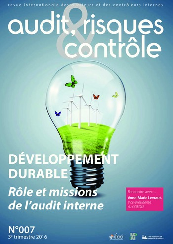 N°007 - juil 2016 L'audit interne et le développement durable / integrated reporting page 1
