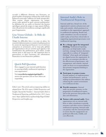 Tone at the top 75 - Au-delà des chiffres : le nouveau monde du reporting non financier / dec 2015 page 3