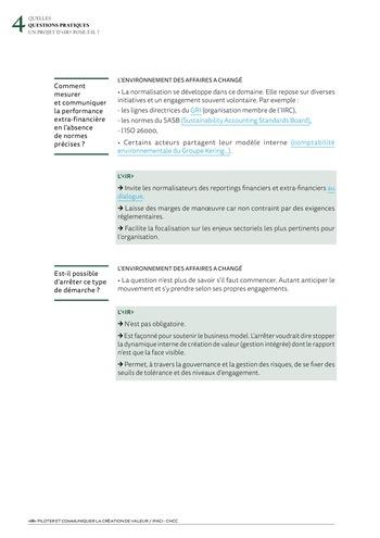 <IR> Piloter et communiquer la création de valeur (IFACI/CNCC) page 14