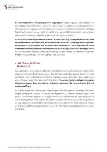 <IR> Piloter et communiquer la création de valeur (IFACI/CNCC) page 20