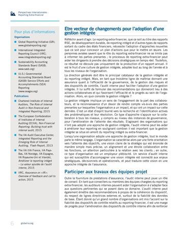 Perspectives internationales - Au-delà des chiffres : le rôle de l'audit interne en matière de reporting extra-financier page 6