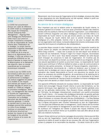 Perspectives internationales - Augmenter l'impact stratégique de l'audit interne page 8