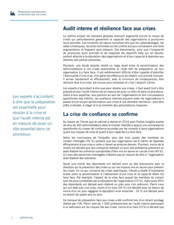 Perspectives internationales - La résilience face aux crises page 4
