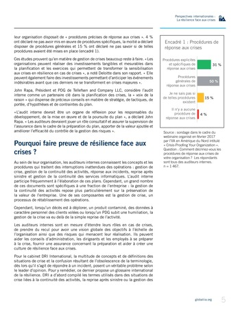 Perspectives internationales - La résilience face aux crises page 5