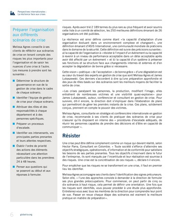 Perspectives internationales - La résilience face aux crises page 6