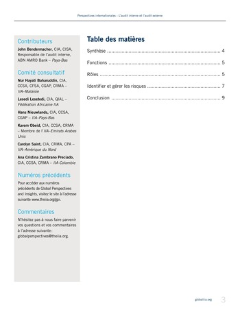 Perspectives - internationales - L'audit interne et l'audit externe page 3