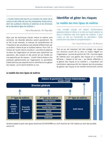 Perspectives - internationales - L'audit interne et l'audit externe page 7