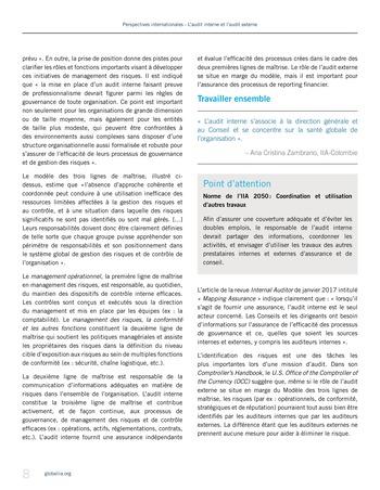 Perspectives - internationales - L'audit interne et l'audit externe page 8