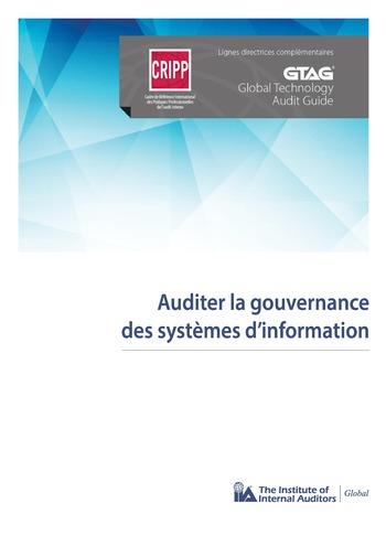 Auditer la gouvernance des systèmes d'information page 1