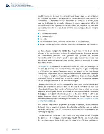 Perspectives internationales - 2018 : Principaux risques auxquels sont confrontés les responsables de l'audit interne page 8