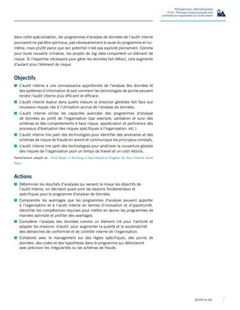 Perspectives internationales - 2018 : Principaux risques auxquels sont confrontés les responsables de l'audit interne page 9