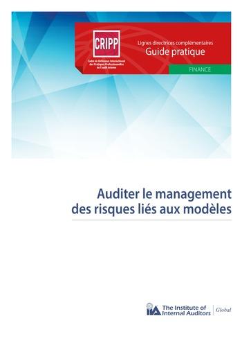 Auditer le management des risques liés aux modèles page 1