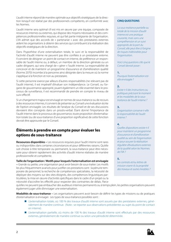 Prise de position - Dotation et gestion des ressources de l'audit interne / IIA page 2