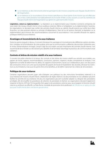Prise de position - Dotation et gestion des ressources de l'audit interne / IIA page 3