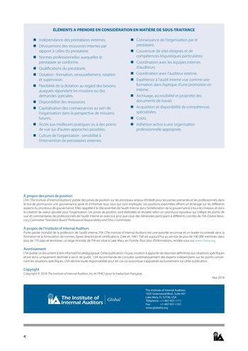 Prise de position - Dotation et gestion des ressources de l'audit interne / IIA page 4