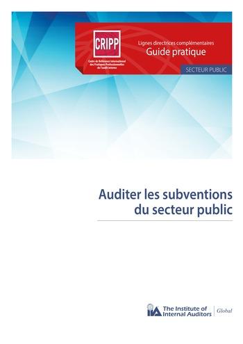 Auditer les subventions du secteur public page 1