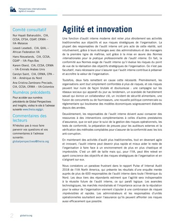 Perspectives internationales - Agilité et innovation page 2