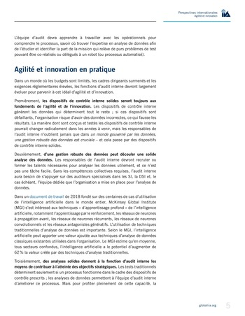 Perspectives internationales - Agilité et innovation page 5