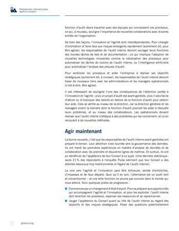 Perspectives internationales - Agilité et innovation page 6