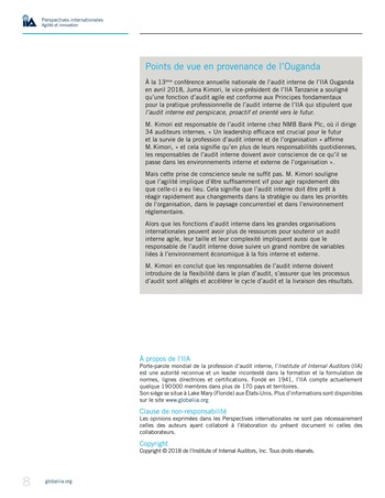 Perspectives internationales - Agilité et innovation page 8