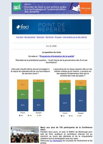 Lettre mensuelle IFACI - novembre 2018 page 1