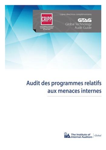 Audit des programmes relatifs aux menaces internes page 1