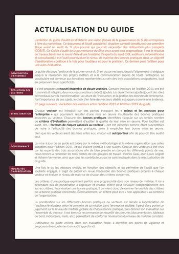 Guide d'audit de la gouvernance du Système d'Information de l'entreprise numérique - 2ème édition page 10