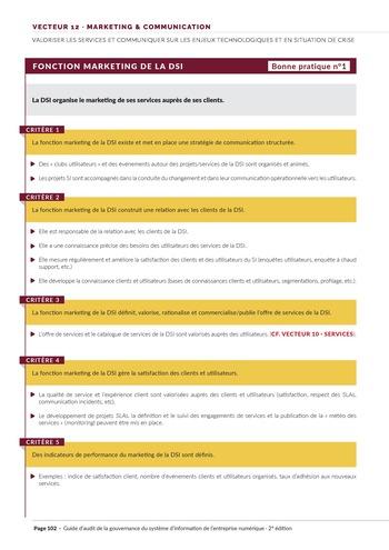 Guide d'audit de la gouvernance du Système d'Information de l'entreprise numérique - 2ème édition page 104